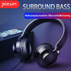 3.5mm Wired Headphones Foldable Headset Surround Bass Gaming Earphones Handsfree