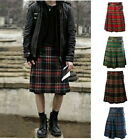 Scottis Mens Kilt Traditional Soft Fashion Casual Loose Check Skirt Hot