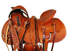 AMAZINGLY TOOLED WADE SADDLE 15 16 17 ROPING ROPER RANCH HORSE TRAIL WORK TACK