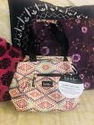 "Nicole Miller New York Insulated Lunch Tote Bag Cooler 11"" Fiesta Bone w/ Trian"