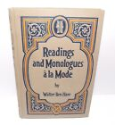 Readings and Monologues a' la Mode, by Walter Ben Hare (1921) Hardcover