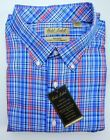 NWT Gold Label Roundtree York Red White Blue Check Men Shirt Big Tall Many Sizes
