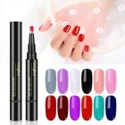 3 in 1 Penna Gel Smalto Per Unghie 12 COLORI One Step Nail Art Smalto Gel Hybrid