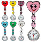 Fashion Heart Shape Smile Face Nurse Fob Brooch Pendant Cute Pocket Watch Hot image