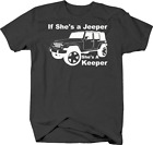 If She's a Jeeper, She's a Keeper Jeep Girl Wife for Jeep Tshirt for women