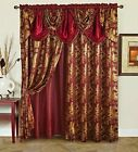 Kyпить Jana Elegant curtain set luxury panel set of 2 with attached valance and sheer на еВаy.соm