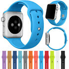 Sport Silicone Band Soft Strap For Apple Watch Series 4 3 2 38mm/42mm/40mm/44mm image