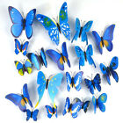 12 Pcs 3d Butterfly Stickers Colourful Wedding Diy Home Room Decor Fridge Magnet
