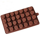 28 Funny Emoji Silicone Chocolate Cake Mold DIY Ice Candy Cookies Baking Mould