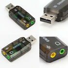 USB to 3.5mm Jack Audio Adapter USB Stereo Sound Card Headset Microphone Jack