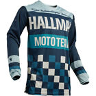 NEW THOR HALLMAN HEATER BLUE  MX JERSEY ALL SIZES  VINTAGE L@@K FREE SHIP