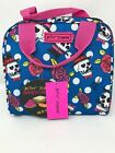 Betsey Johnson Skull and Rose Insulated Lunch Tote Blue New Women's Bags