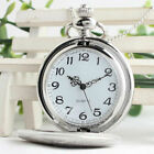 Pocket Watch Vintage Smooth Quartz Classic Watches Necklace Chain for Men Women image