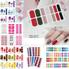 Nail Wraps Polish Strips Stickers Full Foils Decoration False Nail Stickers Diy