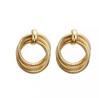 Gold Silver Earrings Round Chunky Statement Drop Hoop Ethnic Boho Fashion Knot