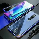 For OnePlus 7 Pro Magnetic Adsorption Aluminum Tempered Glass Case Cover