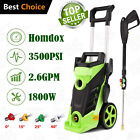 Homdox 3500PSI 2.6GPM Electric Pressure Washer Green Cleaner Spray Kit Hose Reel