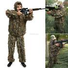2 Pieces Ghillie Suit Woolland 3D Leaves Camo Camouflage Forest Hunting GFEQ 01