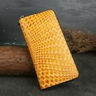 New Women Genuine Cow Leather Long Wallet Purse Handbag Clutch bag Woven pattern