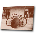 Canvas Print Framed Kitchen Wall Art Photo Picture Vintage Brown Sepia Bike