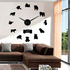 British Bulldog Silhouettes DIY Large Wall Clock English Bulldog Big Time Watch