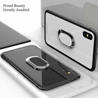 Fr i Phone Xs Max 7 8 Plus Magnetic TPU Rubber Case Cover With Ring Stand Holder