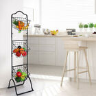 3 Tier Wire Hanging Basket Shelf Stand Fruit Vegetable Organizer Storage Kitchen