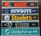 "NFL Home Decor AVE Street Signs 4""x24"" Football Logo Man Cave Styrene Plastic on eBay"