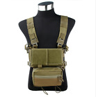 TMC Tactical Modular Chest Rig Micro Fight Chassis w/ 5.56 Mag Pouch CamouflageVests - 178080