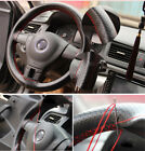 Car Steering Wheel Braid On Cover With Needle And Thread Artificial Leather Auto