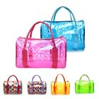 Women Transparent Handbag Shoulder Bag Clear Jelly Purse Clutch PVC Tote Bag #hx image