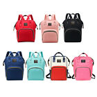 Diaper Mummy Bag Maternity Backpack W/ Insulated Bottle Pocket For Travel