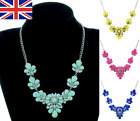 Fashion Bib Coloured Ladies Jewellery Necklace Flower Statement Fashion Gold Uk