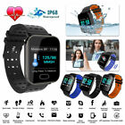 Bluetooth Smart Watch Blood Pressure Heart Rate Monitor Fitness Sports Wristband image