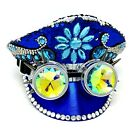 Steampunk Top Hat Bling Rhinestone Women Halloween Costume Party With Goggles