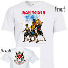 "IRON MAIDEN, 4th Of July, 86' TOUR,""Rare Art"", Cool White T-shirt T-573 L@@K!! image"