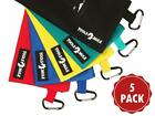 """Canvas Tool Pouch Set With Zipper - 5 Pack Small Tool Bag 12.5"""" X 7"""" With Carabi"""