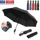 Automatic Black Umbrella Anti-UV Sun/Rain Windproof 3 Folding Compact Umbrella
