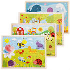 16 Styles Wooden Drawing Jigsaw Puzzle Collection Toy Gift For Baby Kids TBG*HFD