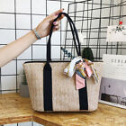 Us Women Boho Woven Retro Rattan Handbag Tote Bags Summer Beach Straw Wicker Bag