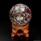 49mm Eudialyte rock sphere. Crystal ball. Rare mineral from Russia.