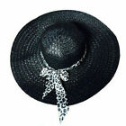Summer Women Fold Sun Derby Hot Straw Hat Cap Lady Floppy Wide Brim Beach Hat