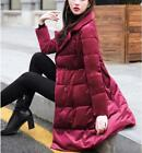 Women's Sweet A-line Lapel Puffer Velvet Down Cotton Padded Jackets Quilted Coat