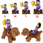 Funny Riding Horse Cowboy Pet Dog Costumes Puppy Christmas Party Costume Clothes