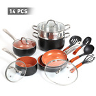 Copper Nonstick 14-piece Cookw...