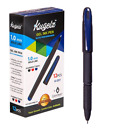 KUGELZ Gel Ink Pen 12/Set | Premium Rollerball Blue Tint Writing Pens+Cap [Blue]