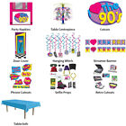 I LOVE THE 90'S THEME DECORATIONS - PARTYWARE COMPLETE SELECTION