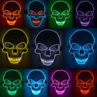 Kyпить Halloween Mask LED Light Up Scary Skull Mask Costume Cosplay EL Wire Party на еВаy.соm