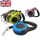 Durable Automatic Retractable Nylon Dog Lead Extending Walking Running Leads UK