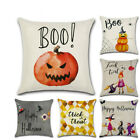 Halloween Printing Home Pumpkin Little Witch Fiber Cartoon Pillow Cover image